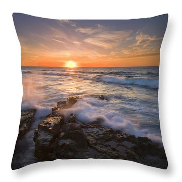 Reaching For The Sun Throw Pillow by Mike  Dawson