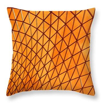 Throw Pillow featuring the photograph Orange Glow by Elvira Butler