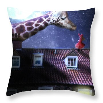 Reaching Out Throw Pillow by Nathan Wright