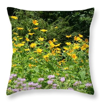 Reaching Throw Pillow by Rebecca Smith