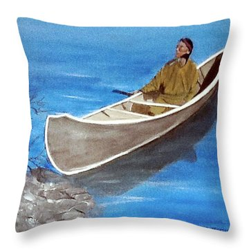Reaching Shore Throw Pillow by Catherine Swerediuk