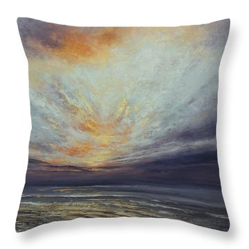 Reaching Higher Throw Pillow by Valerie Travers