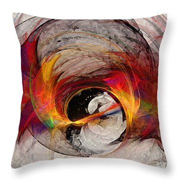 Reaction Abstract Art Throw Pillow