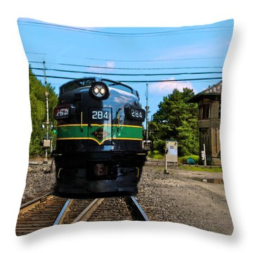Reading 284  Train Throw Pillow