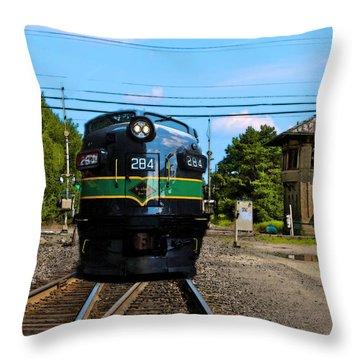 Reading 284  Train Throw Pillow