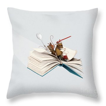 Reading Is An Adventure Throw Pillow