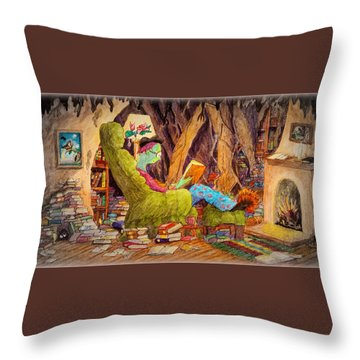 Reading Is Magic Pg 1 Throw Pillow