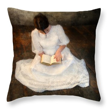 Reading  Throw Pillow by Jill Battaglia