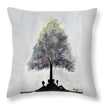 Reading Tree Throw Pillow
