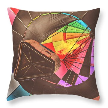 Readington Balloon Festival #1 2015 Throw Pillow