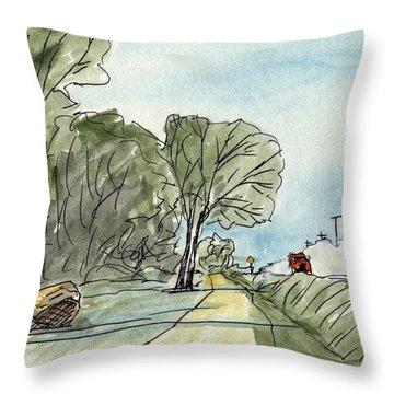Readlyn Grump Trail  Throw Pillow