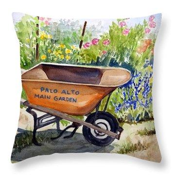 Ready At The Main Garden Throw Pillow