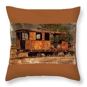 All Aboard Throw Pillow by Thom Zehrfeld