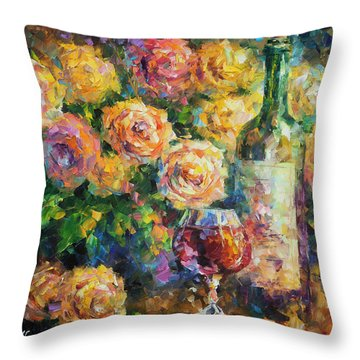 Ready For Her  Throw Pillow by Leonid Afremov