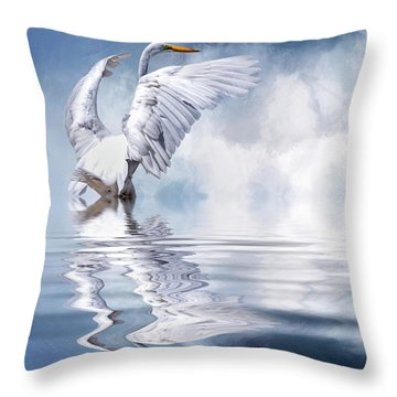 Ready For Take Off Throw Pillow by Cyndy Doty