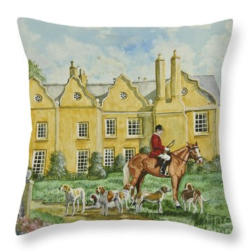 Ready For The Hunt Throw Pillow by Charlotte Blanchard