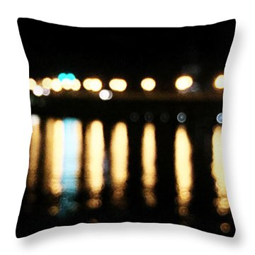 Throw Pillow featuring the photograph Bridge Of Lions -  Old City Lights by LeeAnn Kendall