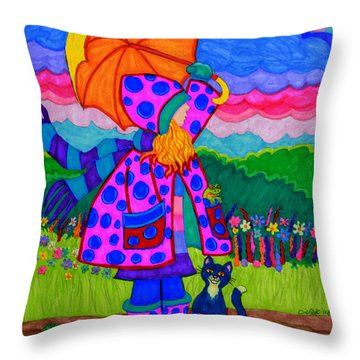Ready For The Rain Throw Pillow by Nick Gustafson