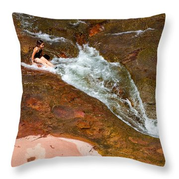 Ready For The Slide Throw Pillow