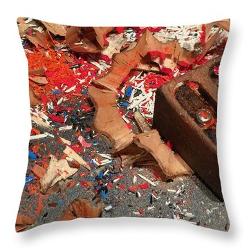 Ready-set-draw Throw Pillow