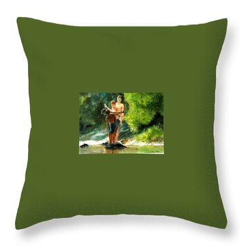 Ready, Set Go Throw Pillow