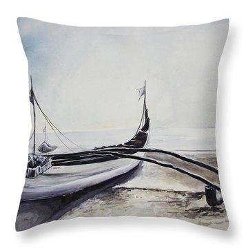 Ready To Face The Sea Throw Pillow
