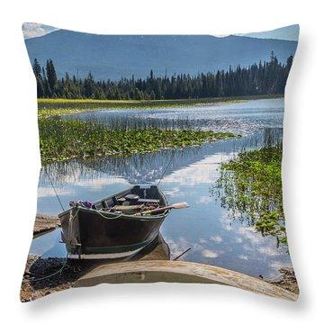 Ready To Fish Throw Pillow
