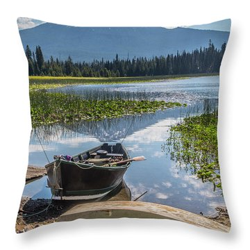 Ready To Fish Throw Pillow