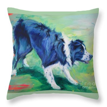 Ready To Fly - Border Collie Throw Pillow