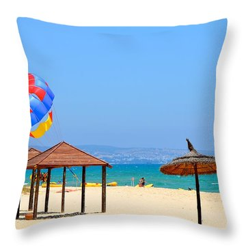 Ready To Launch Throw Pillow by Corinne Rhode