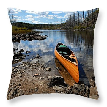 Ready To Paddle Throw Pillow by Larry Ricker