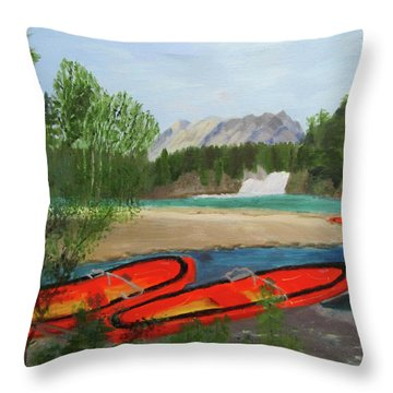 Throw Pillow featuring the painting Ready To Ride by Linda Feinberg