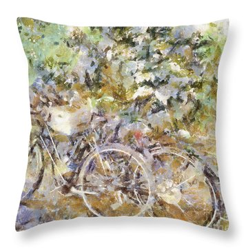 Ready To Ride Throw Pillow by Shirley Stalter