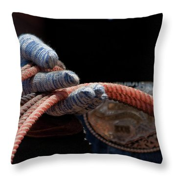 Throw Pillow featuring the photograph Ready To Rope by Roger Mullenhour