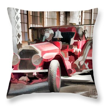 Ready To Serve Again Throw Pillow by Wilma Birdwell