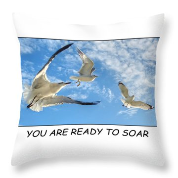 Ready To Soar Throw Pillow by Geraldine Alexander
