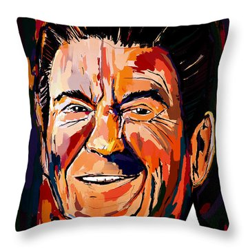 Reagan Revisited Throw Pillow