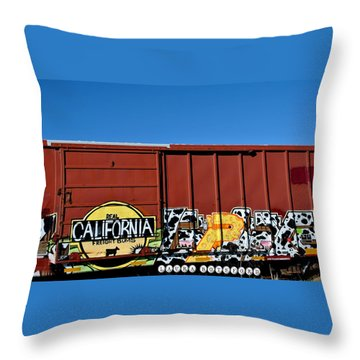 Real California Freight Bums  Throw Pillow