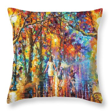 Real Dreams   Throw Pillow by Leonid Afremov