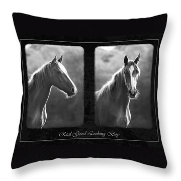 Real Good Looking Boy Throw Pillow by Hazy Apple