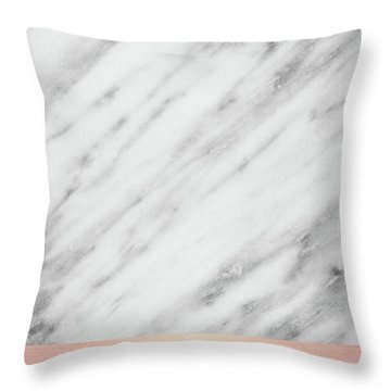 Real Italian Marble And Pink Throw Pillow