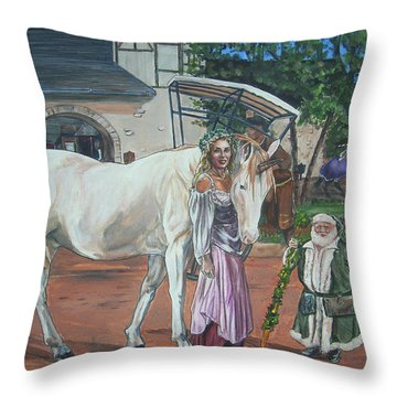 Real Life In Her Dreams Throw Pillow by Bryan Bustard