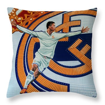 Real Madrid Painting Throw Pillow