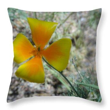 One Gold Flower Living Life In The Desert Throw Pillow