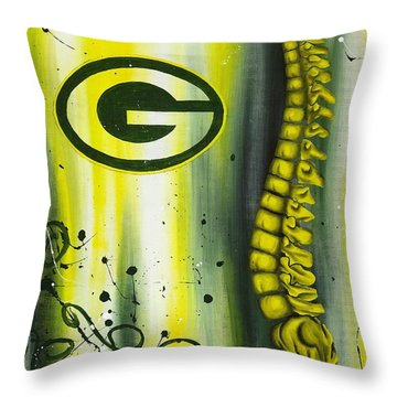 Real Passion Throw Pillow by Brent Buss