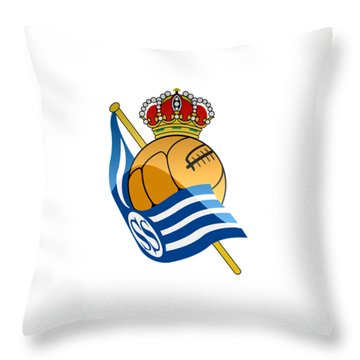 Real Sociedad De Futbol Sad Throw Pillow by David Linhart