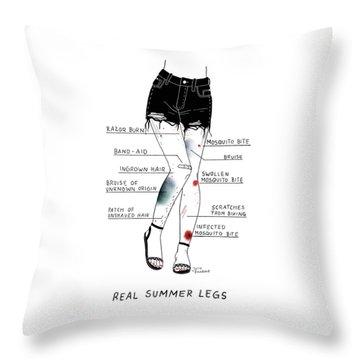 Real Summer Legs Throw Pillow