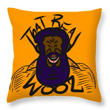 Real Wool Gold Throw Pillow