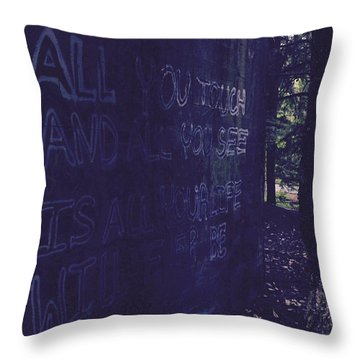 Reality Gap Throw Pillow
