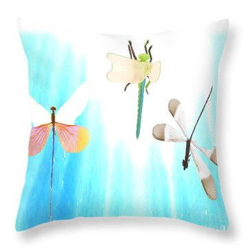 Realization Of Life Throw Pillow by Belinda Threeths